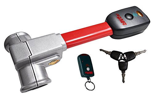 S.W.A.T. Lock-R Pro S Lenkradkralle - die Diebstahlsicherung mit Alarm & Fernbedienung für Lenkräder