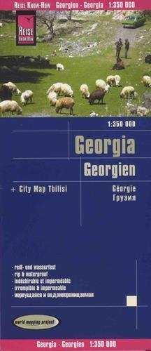 Georgia, mapa impermeable de carreteras. Escala 1:350.000 impermeable. Reise Know-How. por VV.AA.