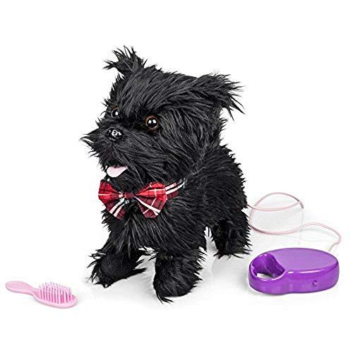 Scotty Bellender und gehender Hund mit Funktion (Leine/Fernbedienung) Schwarz