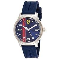 Ferrari Mens Quartz Watch, Analog Display and Rubber Strap 810016