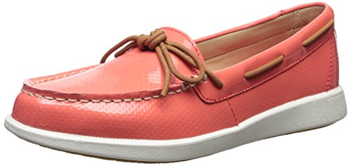 Sperry Top-Sider Women's Oasis Canal Patent Perf Boat Shoe (Sperry Topsider Orange)