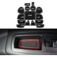 Maiqiken Pad Slot Porta Anti-Polvere Antiscivolo per Grand Cherokee 2011-2014 Mat Car Interior Tappetini Antiscivolo 15 Pezzi/Set (Bianco)