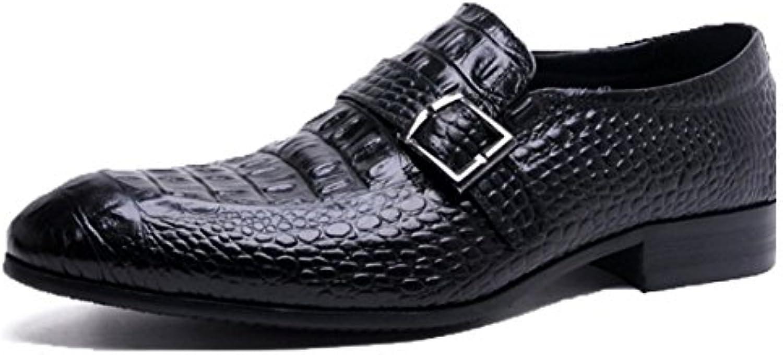 Oxford Schuhe Lederschuhe Für Herren Saumltze von Füßen Spitze Trend Schuhe Britische Schuhe Koreanische Schuhe Krokodil Muster