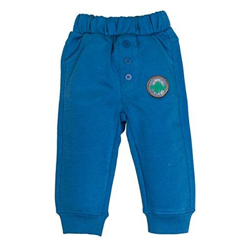 SALT AND PEPPER Baby-Jungen Jogginghose B Trousers Dino, Blau (Artic Blue Melange 447), 74