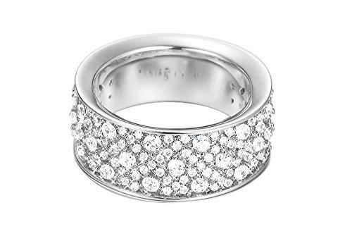 Esprit Damen-Ring JW50056 Messing rhodiniert Zirkonia weiß Rundschliff Gr. 50 (15.9) - ESRG02347A160