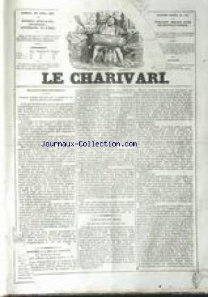 CHARIVARI (LE) [No 110] du 20/04/1837 - BULLETIN B...