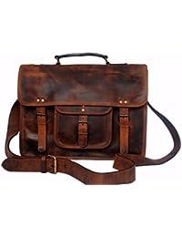 cfc1243cfc198 Retro Stil Echtes Leder Laptop Messenger Bag Geschenk für Herren Frauen ihm  ihre