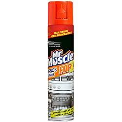 Mr Muscle Limpiahorno Forza - Gel de limpieza para hornos, gran poder desincrustante en frío, formato 300 ml