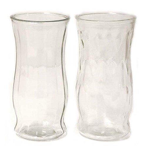 26California Großhandel von klaren Glas Vase 2Asst d4.7X 9,7H