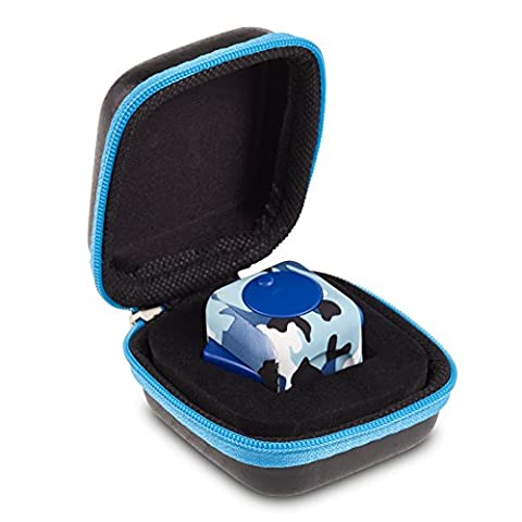Original Envolve Camouflage Fidget Cube (Blue) - For focus, calm anxiety, and break nervous habits (Gift