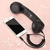 EisEyen Micro Retro Handyhörer für Smartphones und Handys Handyempfänger Strahlungsfest Telefon Handset Einstellbarer Ton 3,5 mm Buchse für Android/iOS Handy