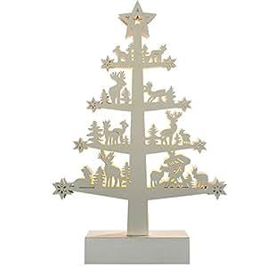 WeRChristmas Renna: albero di Natale decorazione, legno, 25cm–bianco