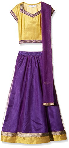 Atayant Girl Lehenga Choli (ATAYK_026_5:6YR_Purple,Yellow_XL)
