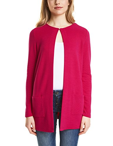 Street One Damen Strickjacke 312222, Rosa (Carribean Pink 11293), 44