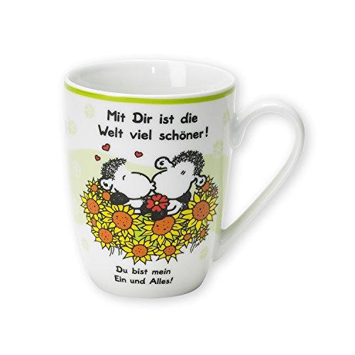 """Sheepworld 59250 Lieblingstasse """"Mit Dir ist die Welt viel schöner!"""", Porzellan"""