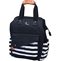R for Rabbit Caramello Delight Diaper Bag Backpack -Multi-Function Waterproof Mother Bag for Travel with Baby - Large Capacity, Durable and Stylish. (Black)