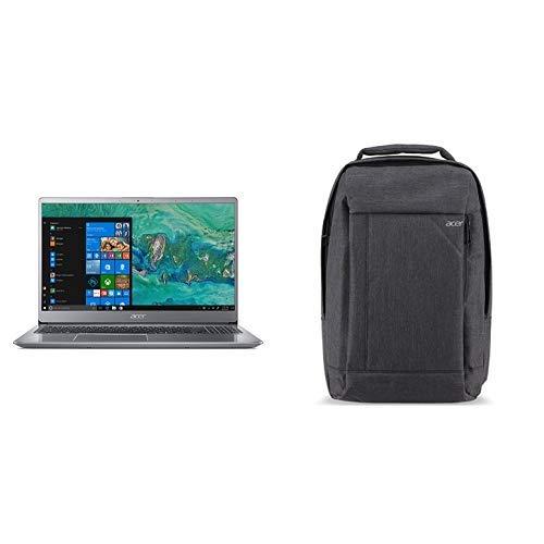 "Acer Swift 3 SF315-52G-84LF Notebook con Processore Intel Core i7-8550U, RAM da 8 GB, 256 GB SSD, Scheda Video NVIDIA GeForce MX150 2 GB GDDR5, Display da 15.6"" FHD, Silver + Zaino"