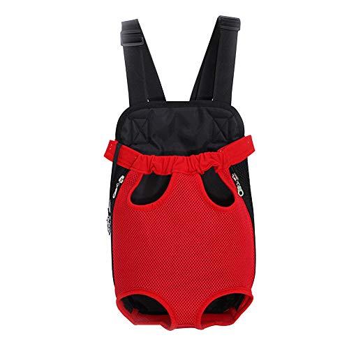Deylaying Haustier Rucksack Hunde-Tasche für kleine Hunde Tragbar Atmungsaktiv Stoff Faltbarer Haustiertragetasche für Hunde und Katzen