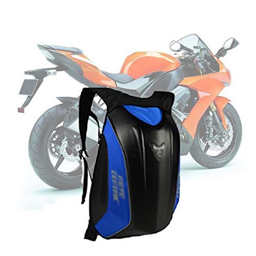 JICYU Motorrad-Tasche, wasserdichter Hartschalen-Rucksack, Motorrad-Taschen Moto-Magnet-Tankrucksack Tanker mit großer Kapazität für den Außenbereich, Moto-Street-Tasche,Blau