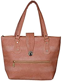 PU Leather Hand-Held Bag For Girls And Women(Beige)