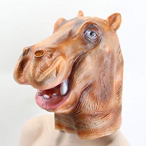 WZYWSJ Halloween Mask Full Face Schöne Tier Hippo Kopf Maske Halloween Cosplay Party Maske Erwachsene