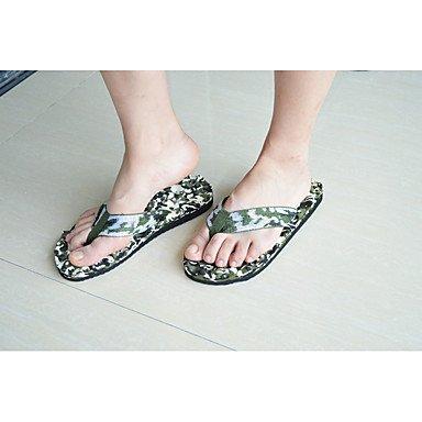 Slippers & amp da uomo;Primavera Estate Autunno tallone piano casuale PVC Altri Nero Blu Verde Altro, Stati Uniti sandali US9.5 / EU42 / UK8.5 / CN43