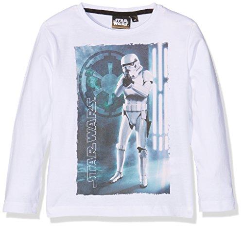 Image of Star Wars Boy's Clone Star War T-Shirt, White (Blanc), 7-8 Years (Manufacturer Size:8 Years)