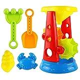 F Fityle 5X Bunt Wasserspielzeug Badespielzeug Badewannenspielzeug - Wasserrad + Rechen + Schaufel + Tierformen