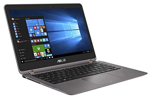 ASUS Zenbook Flip UX360UA-DQ143T 13.3 inch 360 Degrees Rotatable Touchscreen Convertible Laptop (Intel Core i5-6200U Processor, 8 GB RAM, 128 GB SSD, Windows 10) - Dark Grey