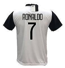 Idea Regalo - Juventus F.C. MAGLIA CRISTIANO RONALDO CR7 MAGLIETTA CALCIO prodotto ufficiale 2018/19 bambino ragazzo uomo (cm:spalle,41,torace 46,lungh 57 - ANNI 8)