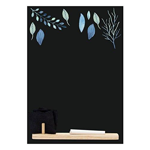 Kreidetafeln UK Blue Leaf 'Kleine Memo Kreidetafel/Tafel/Küche Board mit Tablett, Kreide und Filz...