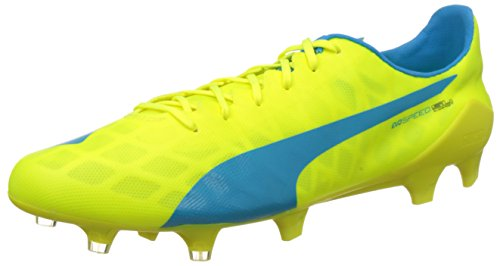 PumaevoSPEED SL FG - Scarpe da Calcio Uomo , Giallo (Gelb (safety yellow-atomic blue-white 05)), 44