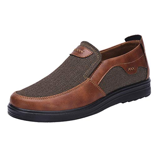 Scarpe Casual Comfort Slip On Leggero da spiaggia o da viaggio Scarpa a rete Allentato e comodo da papà Scarpe Business Casual Scarpe da uomo (42 EU,caffè)