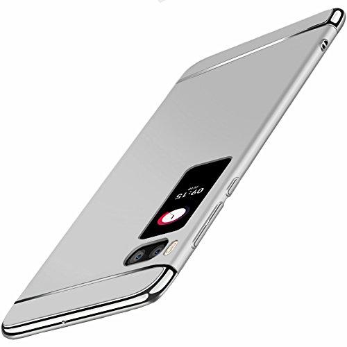 """Coque Meizu Pro 7 (5.2""""), MSVII® 3-in-1 Design PC Coque Etui Housse Case et Protecteur écran Pour Meizu Pro 7 (5.2"""") - Bleu JY50143 Argent"""