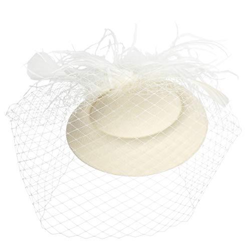 amen Hochzeit Fascinator Haarreif Pillbox Hut Tee Party Accessoires (3-Beige) ()