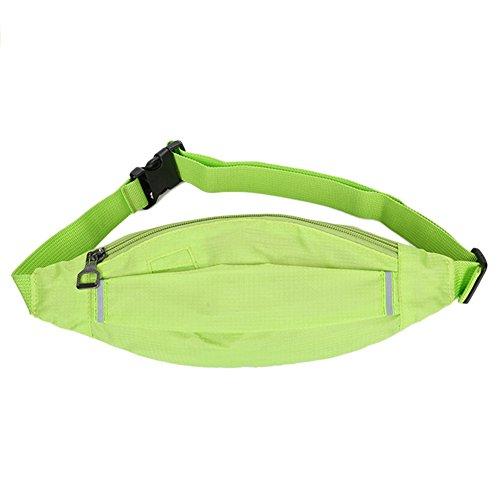 Reefa Square Hidden Grid Outdoor Unisex Running Sport Reisen Thin Body Unsichtbare Taille Tasche Grün