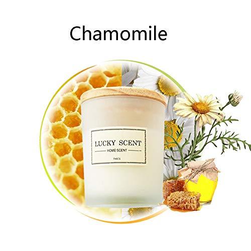 GSKTY Bougie d'aromathérapie Huile Essentielle Lavande sans fumée Parfum purifiant l'Air aromathérapie soja Bougies Cadeaux