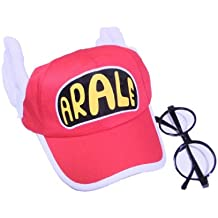 Cosplay accessory Arale wind hat + glasses red cap adult version cosplay tool (japan import)