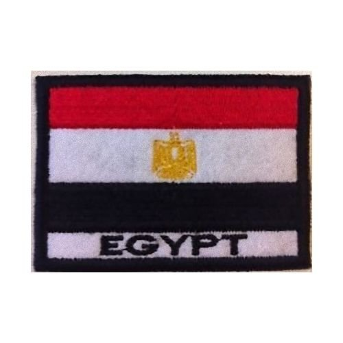 MAREL Patch Bandera EGIPTO cm 7 x 5 Parche Bordado