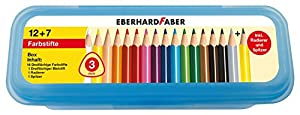 16 lápices de Colores de sección Triangular en Caja Eberhard Faber 511417- Incluye Accesorios