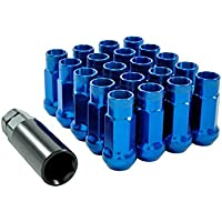 Tuercas de fijación de llantas, de acero M12 x 1,5, de color azul