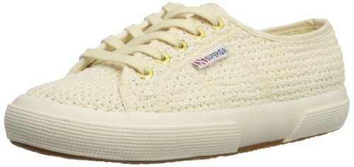 Superga  2750 Crochet, Baskets basses mixte adulte Blanc cassé - ivoire