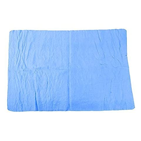 Furniture Glass Blue Faux Chamois Water Absorb Clean Towel 65 x 43cm
