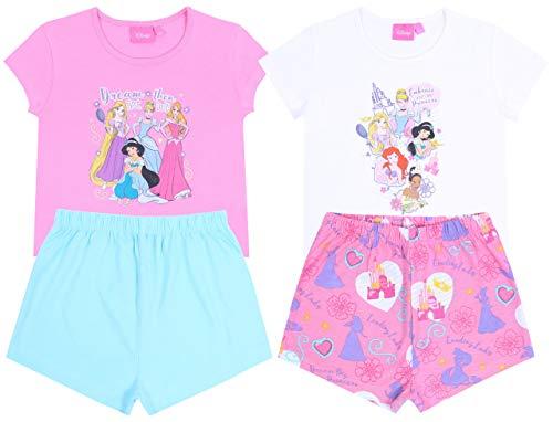 2X Pinker Pyjama von den Prinzessinen Disney 5-6 Jahre 116 cm