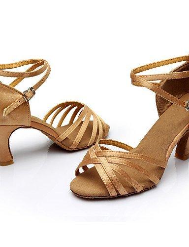 ShangYi Chaussures de danse ( Noir / Marron / Argent / Or / Autre / Léopard ) - Personnalisables - Talon Personnalisé - Satin / Similicuir - Gold
