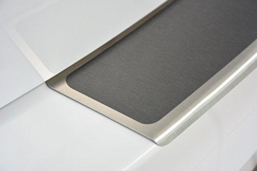 WGS Ladekantenschutz Stoßstangenschutz Lackschutz mit ABKANTUNG Titan auf AluNox® (2126-501)