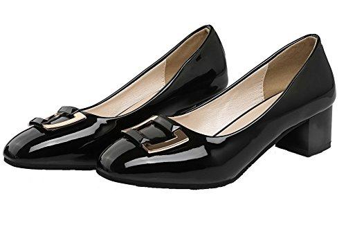 Solido Nero Correggere Colore Per Scarpe Leggere Piazza Coda Donna Verniciato Di Voguezone009 Disegno 0RXqA7