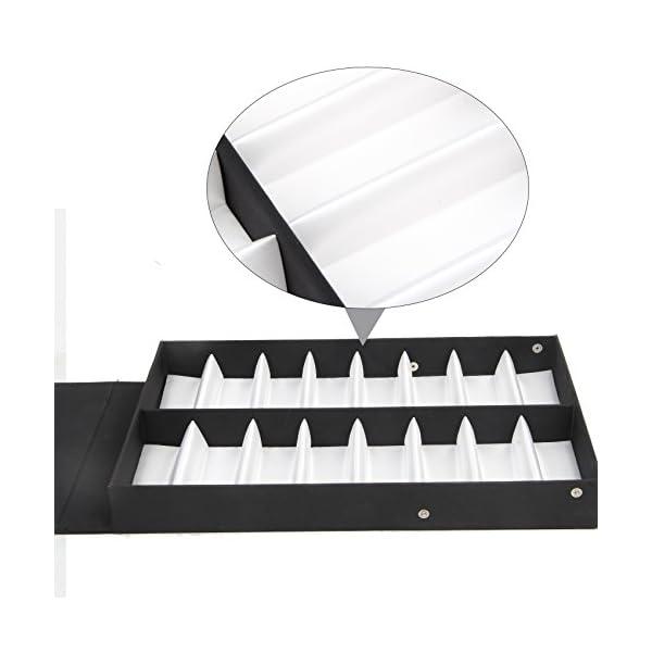 Amzdeal Présentoir de lunettes 16 paires Boîte de Rangement avec le couvercle  pliable pour ... 72171164d197