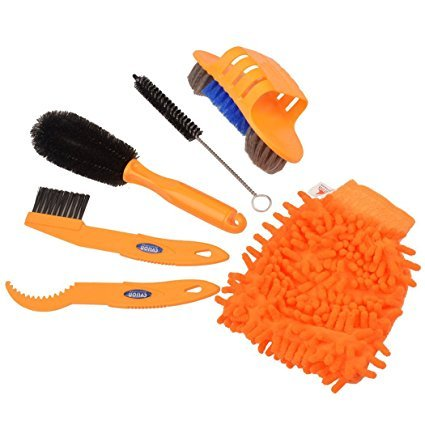 6pcs Bicycle Bike Brush Chain Cleaner Kits Cleaning Tool Set