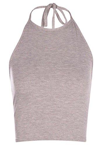 Generic - Débardeur - Dos nu - Sans Manche - Femme Multicolore Bigarré Taille Unique Gris